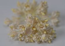 100 WHITE GYPSOPHILA on THREAD Mulberry Paper